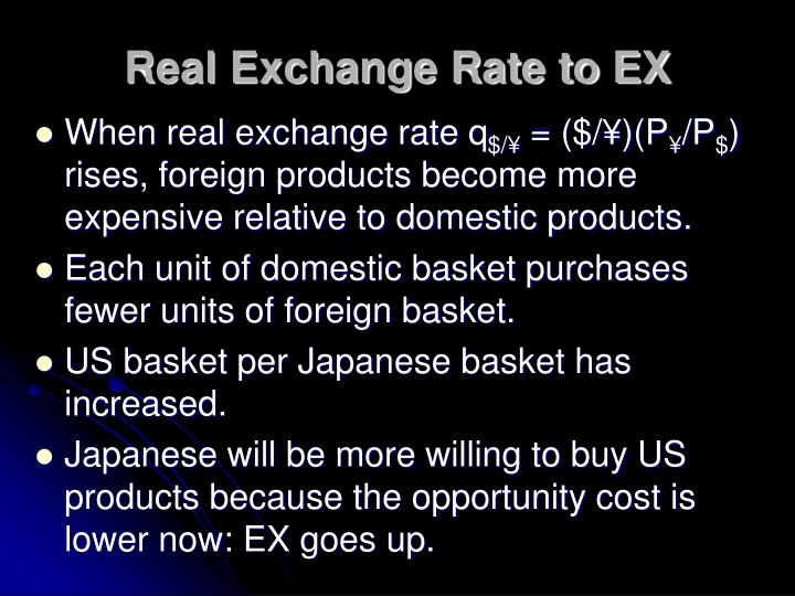 Real Exchange Rate to EX