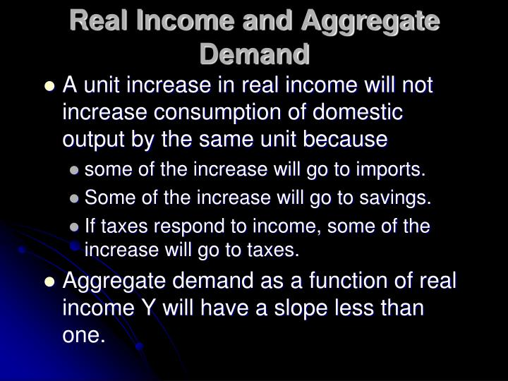 Real Income and Aggregate Demand