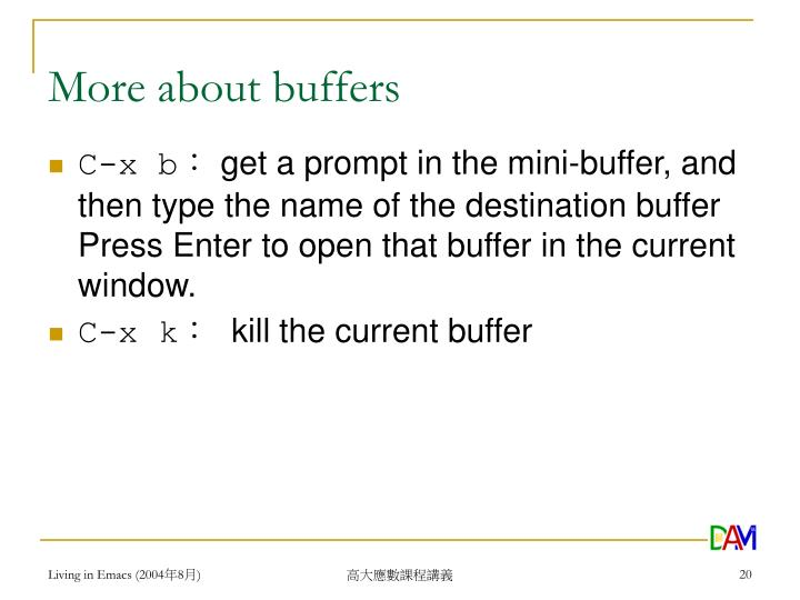 More about buffers
