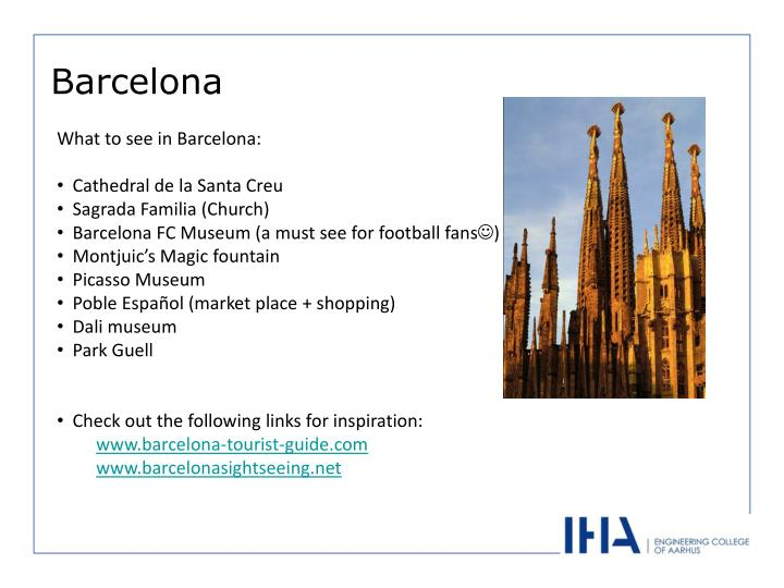 What to see in Barcelona: