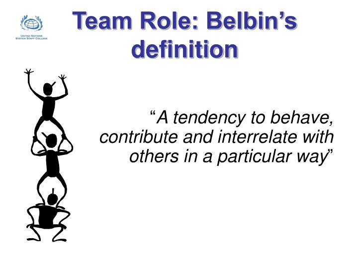 Team role belbin s definition