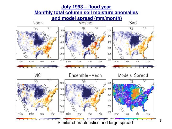 July 1993 – flood year