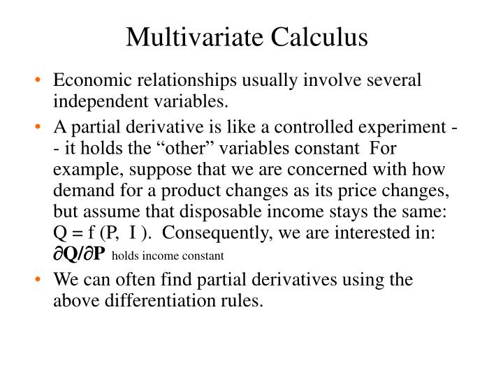 Multivariate Calculus