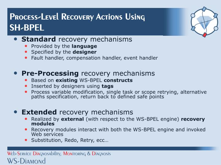 Process-Level Recovery Actions Using SH-BPEL