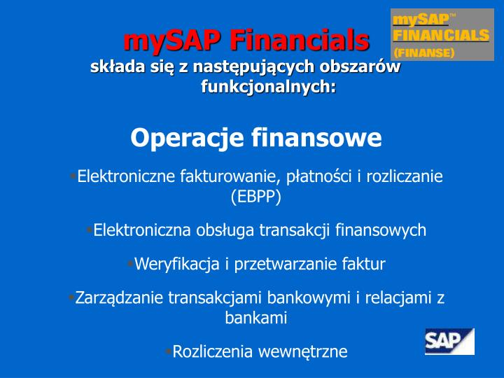 mySAP Financials
