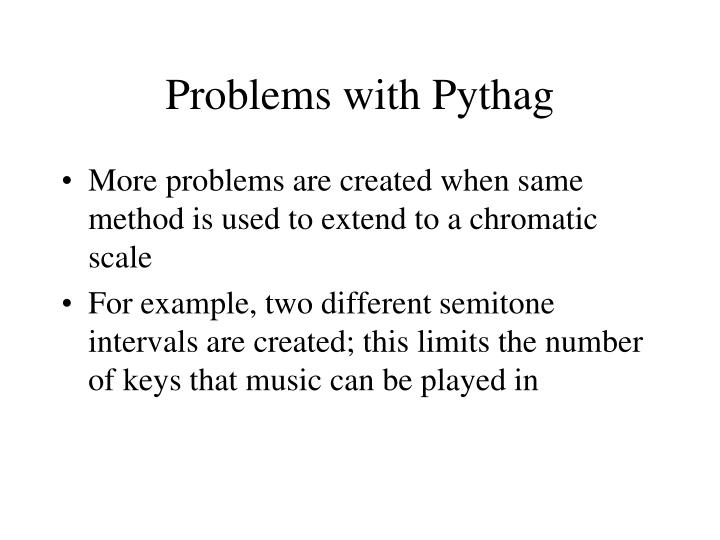 Problems with Pythag
