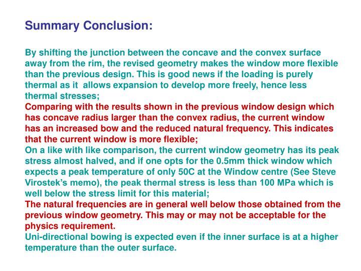 Summary Conclusion: