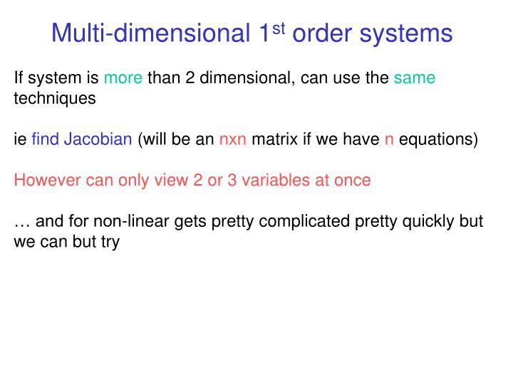 Multi-dimensional 1