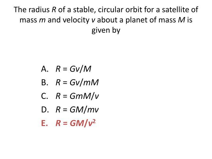 The radius