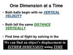 one dimension at a time