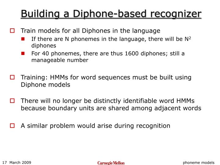 Building a Diphone-based recognizer