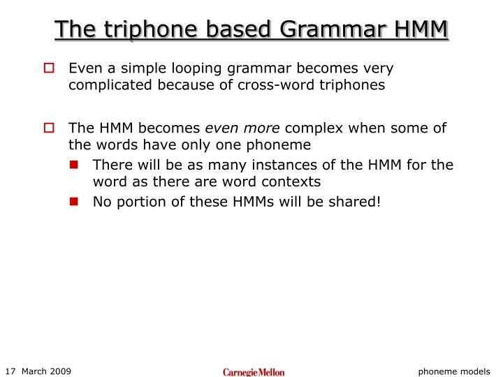 The triphone based Grammar HMM