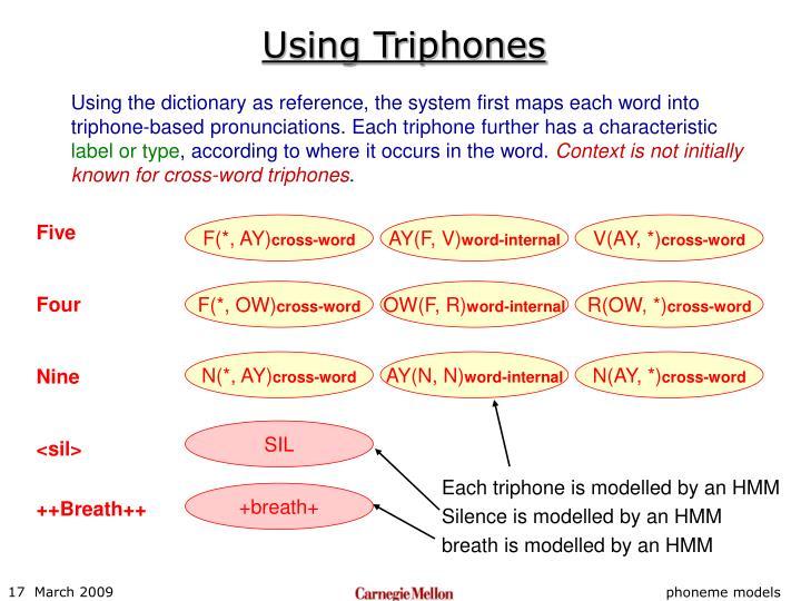 Using Triphones