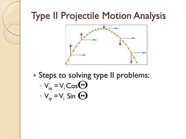 Type II Projectile Motion Analysis