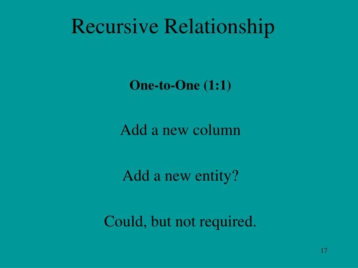 Recursive Relationship