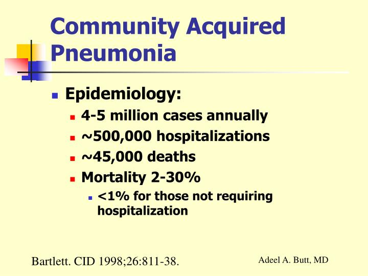 Community acquired pneumonia1
