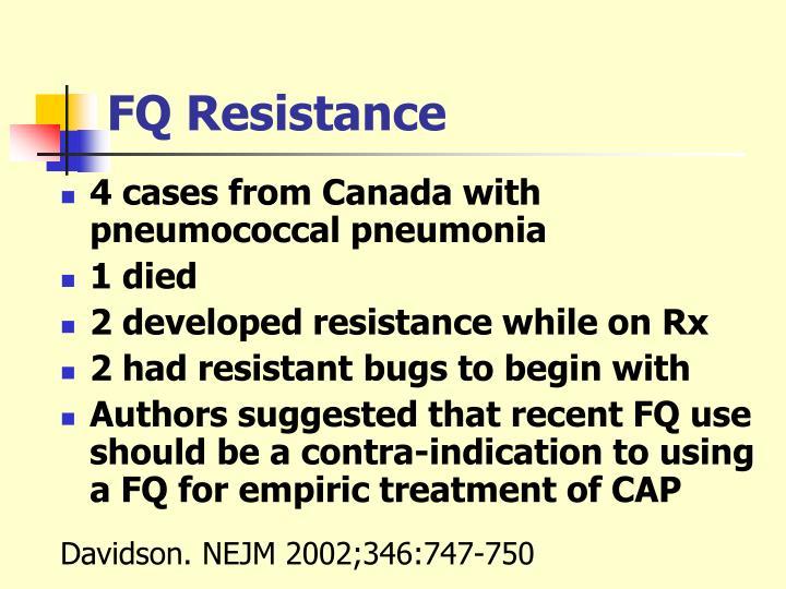FQ Resistance