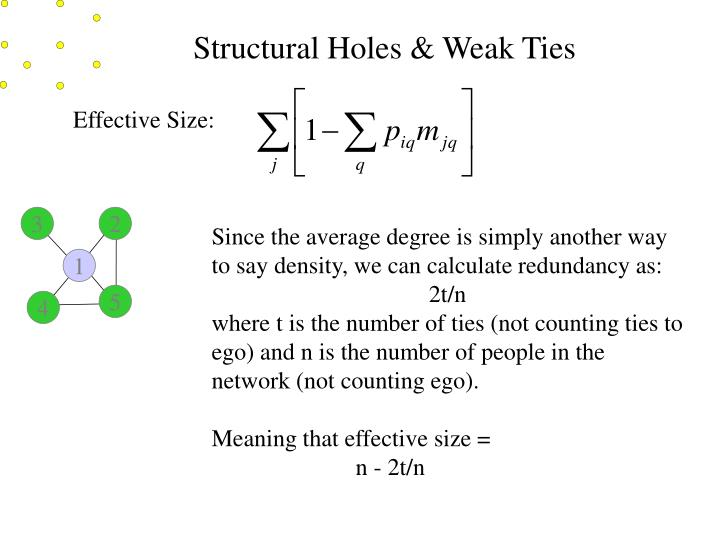 Structural Holes & Weak Ties