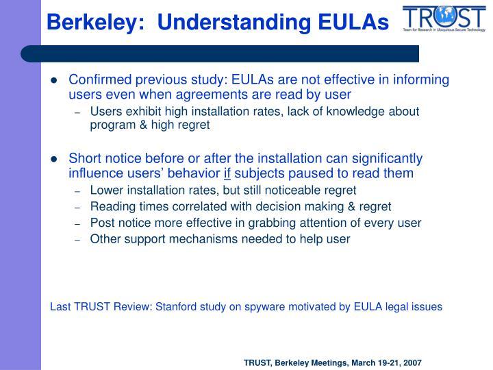 Berkeley:  Understanding EULAs