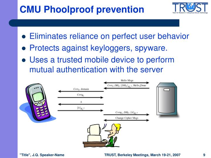 CMU Phoolproof prevention