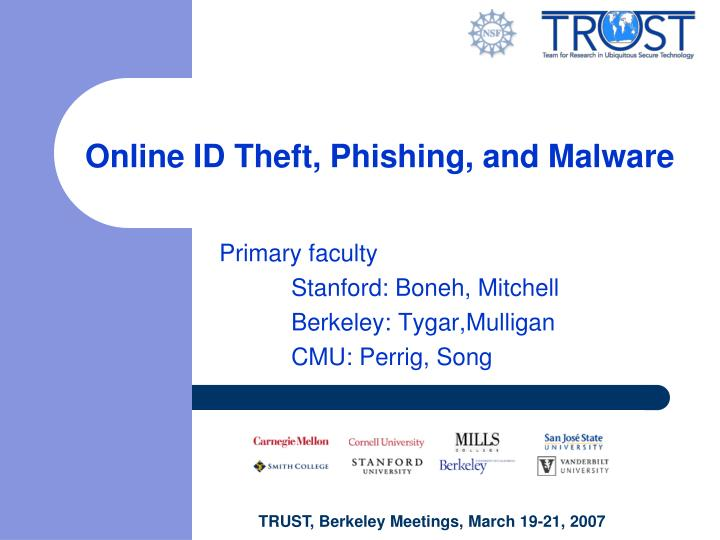 Online id theft phishing and malware