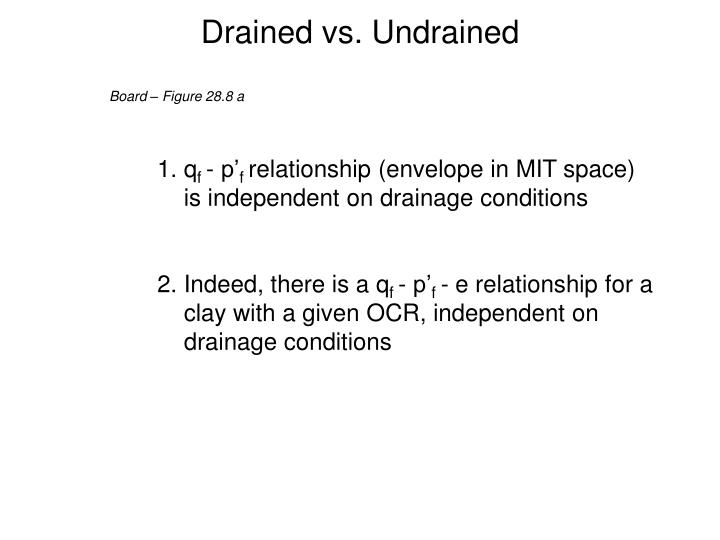 Drained vs. Undrained