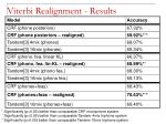 viterbi realignment results