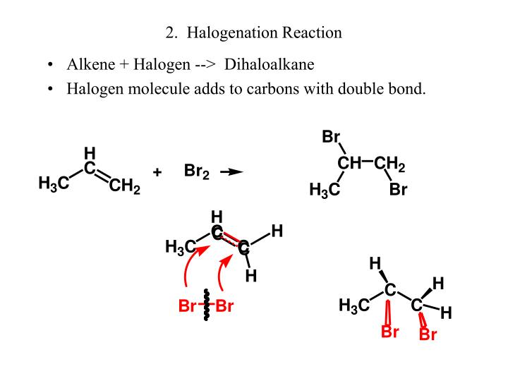 2.  Halogenation Reaction