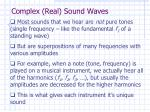 complex real sound waves