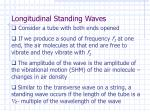 longitudinal standing waves