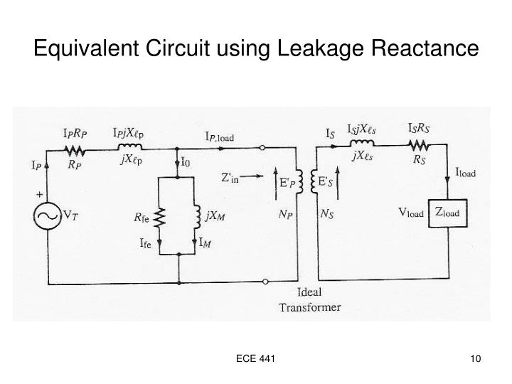 Equivalent Circuit using Leakage Reactance