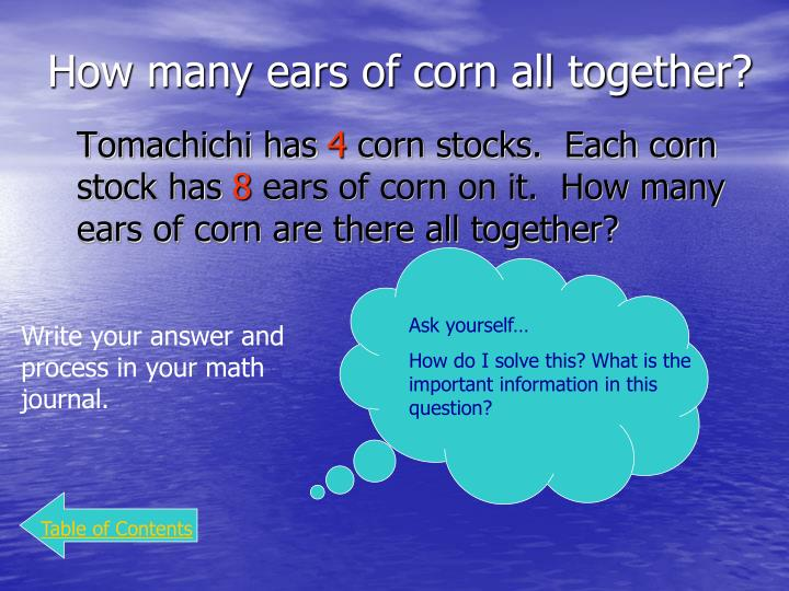 How many ears of corn all together?