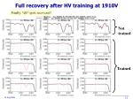 full recovery after hv training at 1910v1