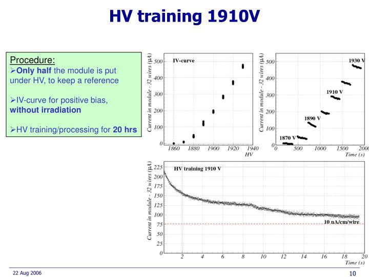 HV training 1910V