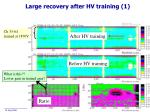 large recovery after hv training 1