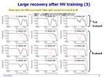 large recovery after hv training 3