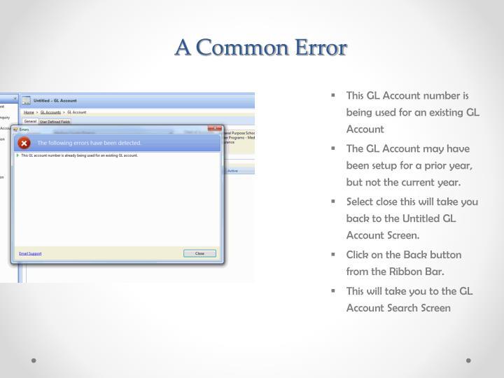 A Common Error