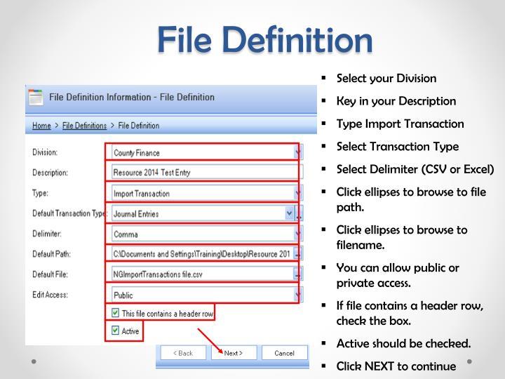 File Definition
