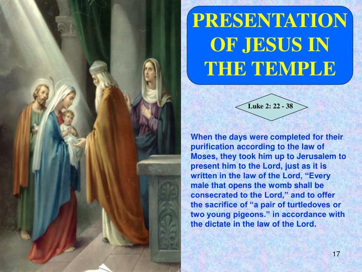 PRESENTATION OF JESUS IN THE TEMPLE