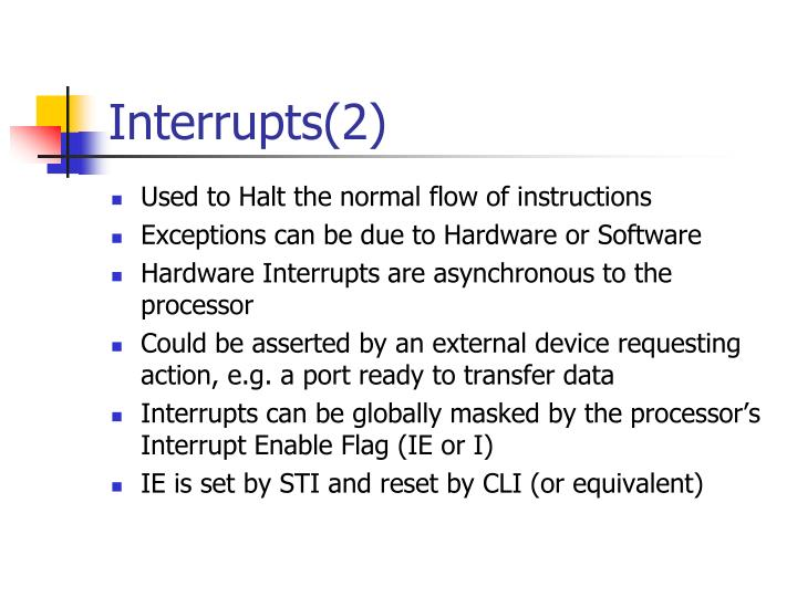 Interrupts(2)