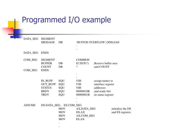 Programmed I/O example