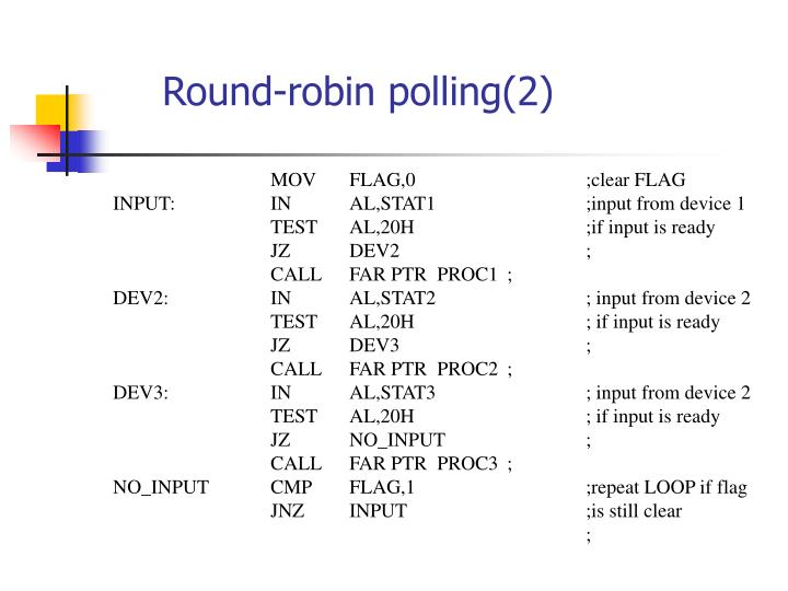 Round-robin polling(2)