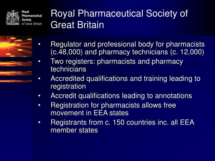 Royal pharmaceutical society of great britain