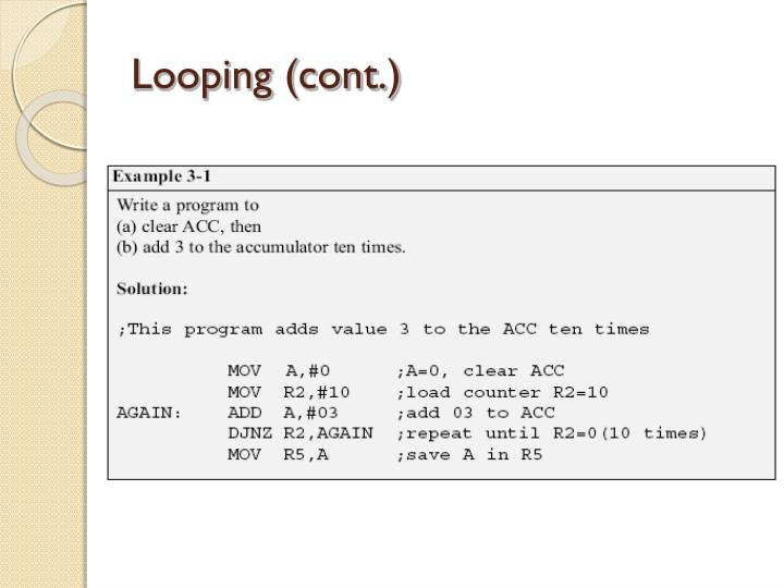 Looping (cont.)