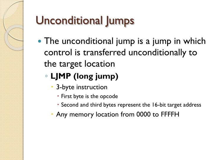 Unconditional Jumps