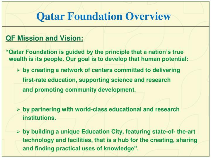 Qatar Foundation Overview