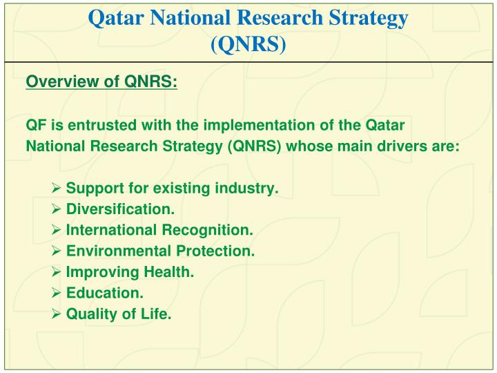 Qatar National Research Strategy