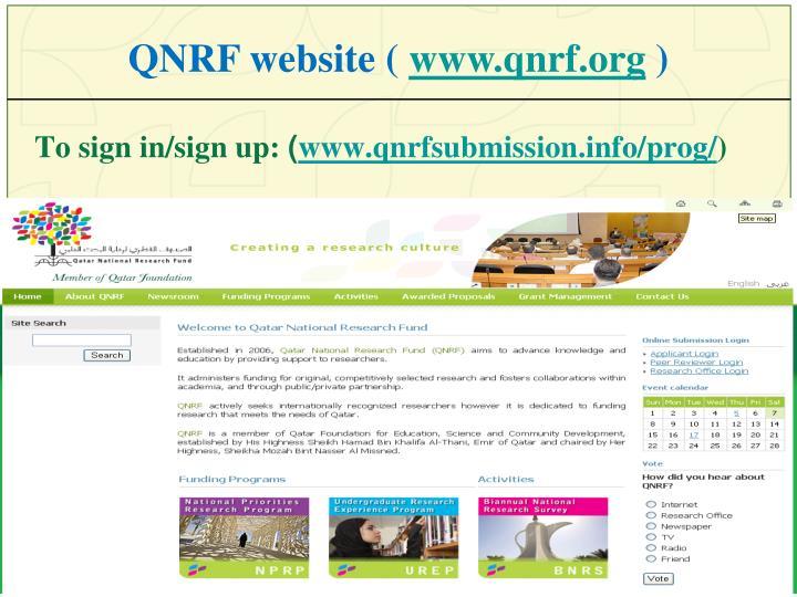 QNRF website (