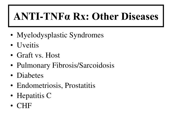 ANTI-TNFα Rx: Other Diseases