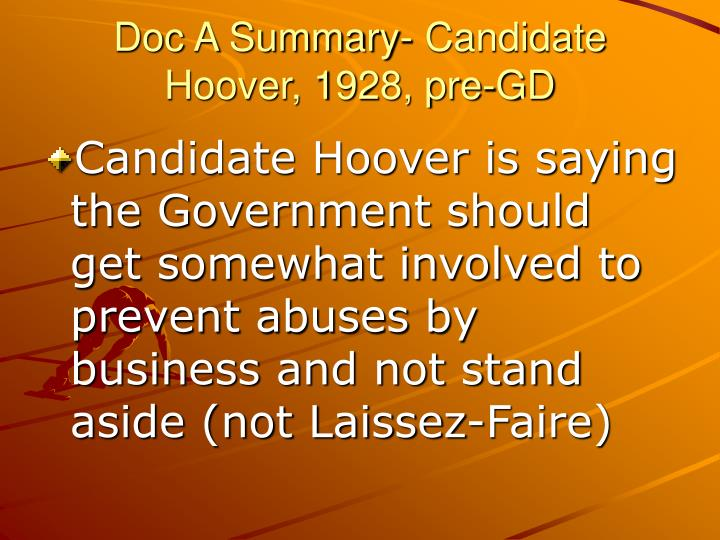 Doc a summary candidate hoover 1928 pre gd